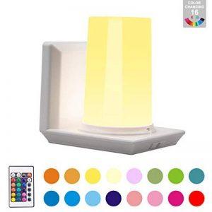 Lampe de Chevet Sans Fil HONWELL 16 Couleurs RVB Lampe de Table Sans Fil Lampe Commande à Distance de la Lumière Gradateur Alimenté par Batterie et 4 Modes D'éclairage Intérieur pour Bureau, Salon, Cuisine de la marque HONWELL image 0 produit