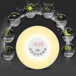 Lampe de Réveil, LEDHK Lampe Horloge de Chevet Simulation d'aube Lumière du Jour LED Tactile 6 Musiques de Sonnerie Lampe avec Radio FM.,7 Changement de Couleur Multi-fonction de Lampe Reveil pour Hotel Chambre de Enfant et Adulte de la marque LEDHK image 2 produit