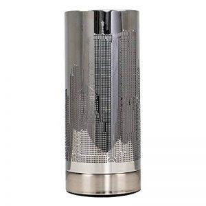 Lampe de Table, Chevet Touch Moderne. Variateur Touch intégré. Chrome Foncé avec Abat-Jour - Gratte Ciel de New York de la marque MiniSun image 0 produit