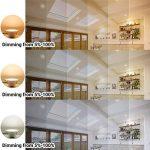 Lampe Plafonnier a LED Encastrable Plafond Encastrer Dimmable 10W Extra Plat Blanc Chaud Froid Ajustable 220V-240V Trou de Plafond Φ90-105MM IP44 Lot de 1 de Enuotek de la marque ENUOTEK image 4 produit
