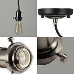 Lampe Suspension Vintage, Elfeland E27 110-240V Lustre Industriel avec 2M Câble de 3-Fils Réglable Lampe Pendentif Rétro DIY Plafonnier Luminaire éclairage de Plafond (sans Ampoule)-Noir de la marque Elfeland image 2 produit