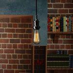Lampe Suspension Vintage, Elfeland E27 110-240V Lustre Industriel avec 2M Câble de 3-Fils Réglable Lampe Pendentif Rétro DIY Plafonnier Luminaire éclairage de Plafond (sans Ampoule)-Noir de la marque Elfeland image 1 produit