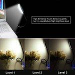 Lampe USB Dimmable Lampe de Lecture avec 3 Niveaux de Luminosité et Bras Flexible Interrupteur Tactile pour Ordinateur Portable/ PC de la marque LEDGLE image 4 produit