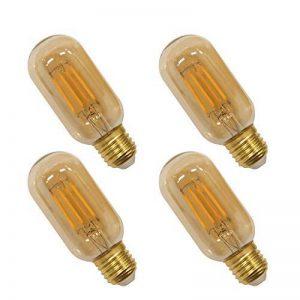 Lampes Ampoule a Filament Edison E27 LED 4W T45 Vintage Deco Retro Blanc Chaud avec Abat Jour de Verre de Revêtue Rétro, 40W Incandescent Remplacement, Lot de 4 de Enuotek de la marque ENUOTEK image 0 produit