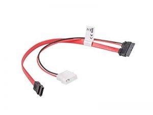 lanberg env.-sasl 10cu-0035R SATA Slimline (13pol) mâle vers Molex (2POL) et SATA (7Pol) Fiche câble réseau, rouge 35cm de la marque lanberg image 0 produit