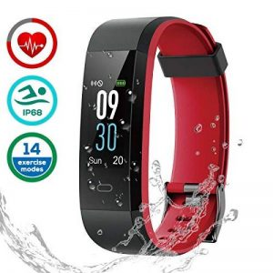 LATEC Montre Connectée, Fitness Tracker Podometre Smartwatch Bracelet Connecté IP68 Imperméable Tracker d'activité Moniteur de fréquence Cardiaque de la marque LATEC image 0 produit