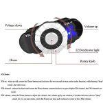 LBAFS Casque De Moto Intégré Bluetooth Talkie-Walkie en Plein Air Vélo Double Visière Casque Ouvert pour Adulte,Grey-L de la marque LBAFS image 2 produit