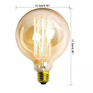 LBBDB Vintage Lampe Edison G125 E27 40W globe géant filament droites de Cage d'Écureuil de la marque LightBulbs image 0 produit