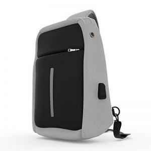 LC Prime Sac de Poitrine, Sling Bag avec Un câble USB pour Sport Voyage de la marque LC Prime image 0 produit
