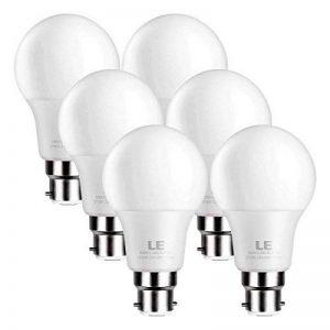 LE Lighting EVER Ampoule LED B22 9W, Equivaut à Ampoule Incandescente 60W, 2700K Blanc Chaud, Ampoules Baïonnette Lot de 6 de la marque Lighting EVER image 0 produit