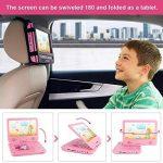 """Lecteur DVD portable FUNAVO de 10.5"""", écran pivotant, batterie rechargeable de 5 heures, casque et sac assorti, prend en charge les cartes SD, port USB, formats lecture directe AVI / RMVB / MP3 /JPEG de la marque FUNAVO image 2 produit"""