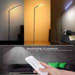 LED lampes sur pied - col de cygne Flexible permanent & Dimmable LED liseuse & trépied de Base Stable, des lampes de lecture réglable 360, 5 couleur & luminosité 12 variateur, tactile & télécommande sans fil – économie d'énergie, pour dortoir, chambre à c image 4 produit