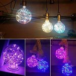 LED Lumières Colorée Ampoule Globe avec Guirlandes Lumineuses dedans Douille E27 1.4W Edison Lampe Décorative pour Noël Soirée Party Bar Café Disco Anniversaire de la marque AZX image 2 produit