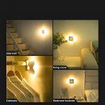 LED Veilleuse Lampes pour Chambres d'Enfants et Bébé Lumière Chaud Lamp Murale avec Capteur Mouvement Physique PIR pour Couloir /Entrée / Escalier /Toilette 2pcs de la marque HUABEI image 1 produit