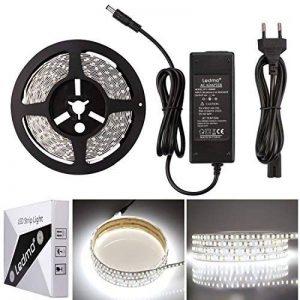 LEDMO KIT Ruban LED,DC12V SMD 5630-300LEDs Ruban LED,IP20 Non-étanche Blanc Froid Lumière Bande Lumineuse LED,300LEDs,Pack avec Bande LED 5M et Transformateur 12V 5A. de la marque LEDMO image 0 produit