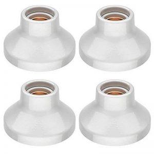 ledscom.de E27 Porcelaine Douille Elektra, Ronde, Blanche, 90mm, 4 pcs de la marque ledscom.de image 0 produit