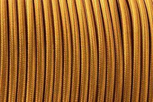 Ledsone 10metres de long 3Core Tissu tressé câble d'éclairage Flex Cordon vintage industriel/Red-black-brown-gold-black et blanc Couleurs, or de la marque Ledsone image 0 produit