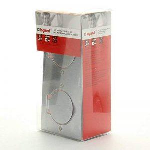 Legrand 092111 Kit Double Prise de Sol Etanche en Inox 230V, Gris, 2 Pôles + Terre de la marque Legrand image 0 produit