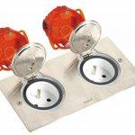 Legrand 092111 Kit Double Prise de Sol Etanche en Inox 230V, Gris, 2 Pôles + Terre de la marque Legrand image 3 produit