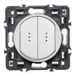 Legrand 099504 Céliane Interrupteur double lumineux, 250 V, Blanc de la marque Legrand image 1 produit