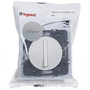 Legrand 099728 Céliane Interrupteur silencieux, 250 V, Blanc de la marque Legrand image 0 produit