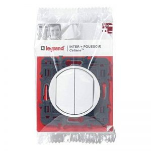 Legrand 099734 Céliane Poussoir avec Interrupteur ou va-et-vient, 250 V, Blanc de la marque Legrand image 0 produit