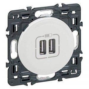 Legrand 099736 Céliane Double Prise USB Encastrable 240V, Blanc de la marque Legrand image 0 produit