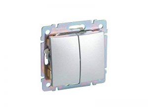 Legrand 192643e Interrupteur double, aluminium de la marque Legrand image 0 produit