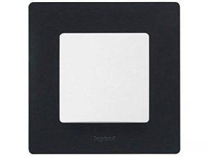 Legrand 397051Mural, Cadre Simple, Enjoliveur pour Interrupteur ou Prise niloé Couleur Noir, Black de la marque Legrand image 0 produit