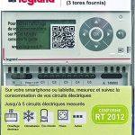 Legrand Eco Compteur Electrique – Mesure de consommation des énergies du logement (électricité, gaz, eau)– compteur triphasé avec 3 tores – ref 92704 de la marque Legrand image 2 produit