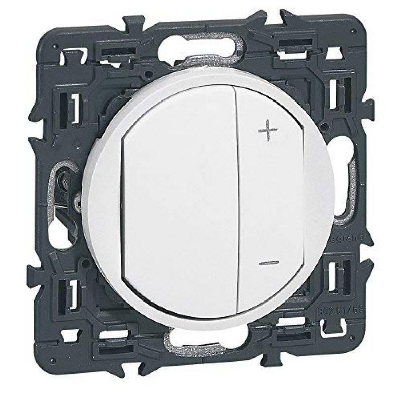 Remplacement Varilight Universel Noir Mat Gradateur Interrupteur Bouton 2 Pack