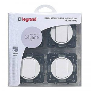 Legrand LEG200262 Céliane Soft Lot de 4 Interrupteurs/Va-et-Vient à composer Blanc de la marque Legrand image 0 produit
