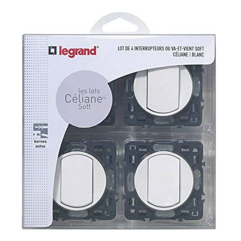 LEG50651 Noir Fiche Multiprise 4 x 2P Legrand Lat/érale