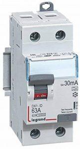 Legrand LEG411556 Interrupteur différentiel dx-id Vis/Vis 2P 230 V 63 A Type A 30 mA Départ bas 2 m de la marque Legrand image 0 produit