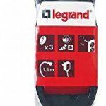Legrand LEG50033 Rallonge multiprise standard 3 prises 2 pôles avec terre et cordon de 1,5 m Noir de la marque Legrand image 2 produit