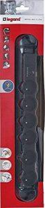 Legrand LEG50297 Rallonge multiprise confort et sécurité parafoudre 6 prises 2 pôles avec terre et cordon 1,5 m Noir de la marque Legrand image 0 produit