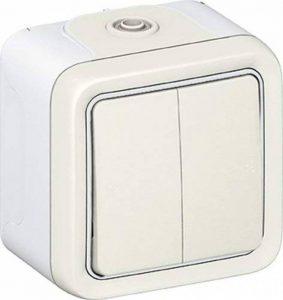 Legrand LEG69916 Double interrupteur ou va et vient apparent complet Blanc Plexo de la marque Legrand image 0 produit