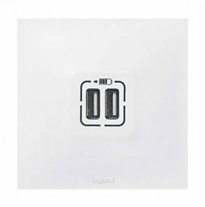 Legrand LEG91343 Neptune Double chargeur USB, 230 V, Blanc de la marque Legrand image 0 produit