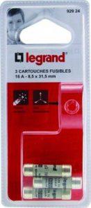 Legrand LEG92924 3 Cartouches Fusibles 16 A 8,5 x 31,5 de la marque Legrand image 0 produit