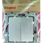 Legrand LEG96662 Double Va et vient argent Niloe de la marque Legrand image 1 produit