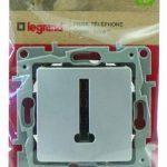 Legrand LEG96682 Prise Téléphone T argent Niloe de la marque Legrand image 1 produit