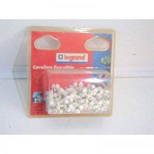 Legrand LEG98339 Boîte de 100 cavaliers fixfor fixe-câbles pour câble méplat 2 x 1 mm Blanc de la marque Legrand image 0 produit