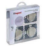 Legrand – Lot de 4 Interrupteurs va-et-vient à Composer – Céliane Soft – Interrupteur Mural Titane - 200263 de la marque Legrand image 1 produit