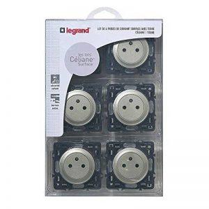 Legrand – Lot de 6 prises électriques avec Terre Composable – Céliane – Coloris Titane– 200268 de la marque Legrand image 0 produit