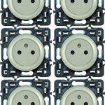 Legrand – Lot de 6 prises électriques avec Terre Composable – Céliane – Coloris Titane– 200268 de la marque Legrand image 3 produit