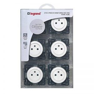 Legrand - Lot de 6 Prises électriques Céliane avec Terre Composable Blanc - ref 200267 de la marque Legrand image 0 produit