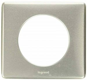 Legrand – Plaque 1 poste Encadrement Prise électrique Murale – Coloris Titane - 099860 de la marque Legrand image 0 produit