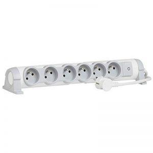 Legrand – Rallonge Bloc Multiprise – 6 prises avec Interrupteur – Blanc – 2P + T - 050084 de la marque Legrand image 0 produit