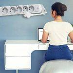 Legrand – Rallonge Bloc Multiprise – 6 prises avec Interrupteur – Blanc – 2P + T - 050084 de la marque Legrand image 2 produit