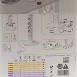 Legrand – Rallonge Multiprise et USB Verticale avec Parafoudre Intégré - Blanc/Gris - 050014 de la marque Legrand image 2 produit